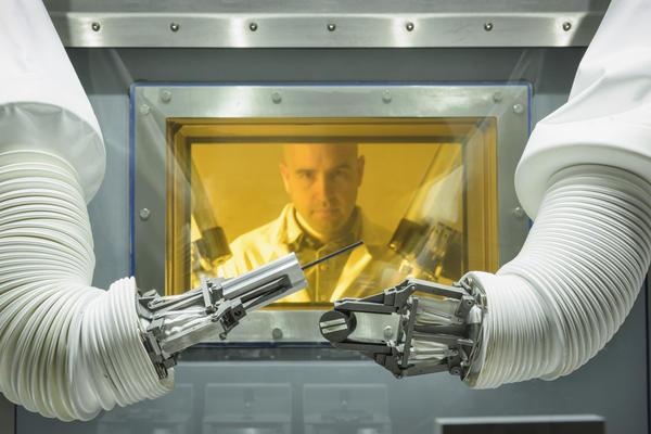 Image of glove box user
