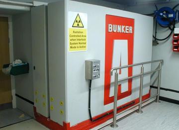 Radiation shielding door